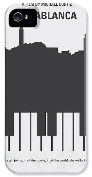 Hollywood iPhone 5 Case - No192 My Casablanca Minimal Movie Poster by Chungkong Art