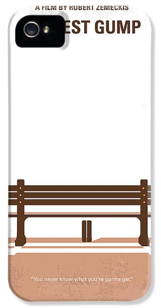 No193 My Forrest Gump Minimal Movie Poster IPhone 5 Case by Chungkong Art