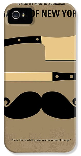 No195 My Gangs Of New York Minimal Movie Poster IPhone 5 Case