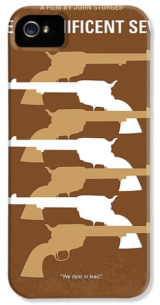 No197 My The Magnificent Seven Minimal Movie Poster IPhone 5 Case