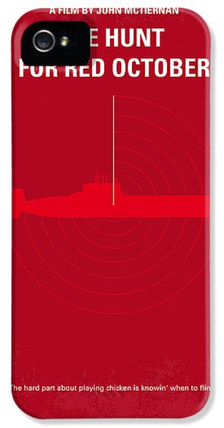 Dallas iPhone 5 Case - No198 My The Hunt For Red October Minimal Movie Poster by Chungkong Art
