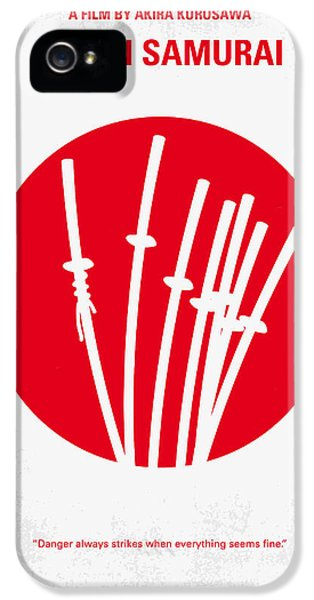 No200 My The Seven Samurai Minimal Movie Poster IPhone 5 Case by Chungkong Art