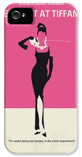 No204 My Breakfast At Tiffanys Minimal Movie Poster IPhone 5 Case