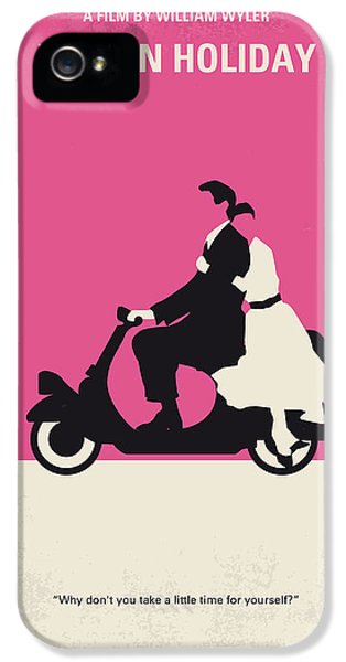No205 My Roman Holiday Minimal Movie Poster IPhone 5 Case by Chungkong Art