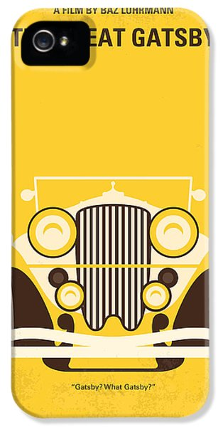 Hollywood iPhone 5 Case - No206 My The Great Gatsby Minimal Movie Poster by Chungkong Art