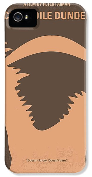 No210 My Crocodile Dundee Minimal Movie Poster IPhone 5 Case