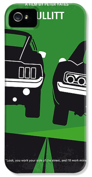 No214 My Bullitt Minimal Movie Poster IPhone 5 Case by Chungkong Art