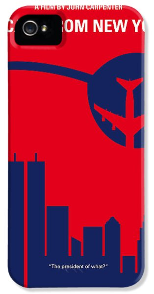 No219 My Escape From New York Minimal Movie Poster IPhone 5 Case