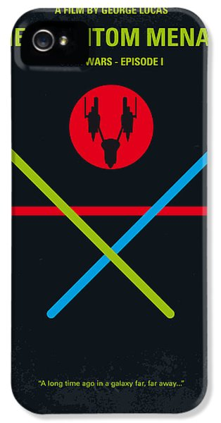 Knight iPhone 5 Case - No223 My Star Wars Episode I The Phantom Menace Minimal Movie Poster by Chungkong Art