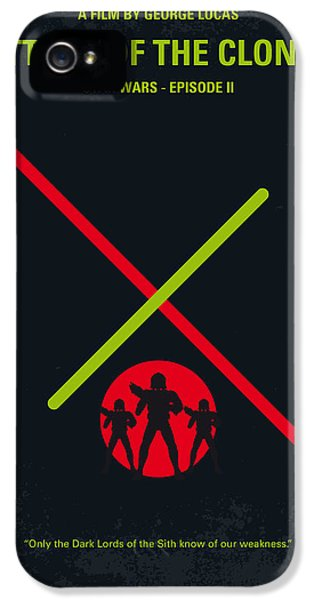 Knight iPhone 5 Case - No224 My Star Wars Episode II Attack Of The Clones Minimal Movie Poster by Chungkong Art