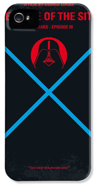 Knight iPhone 5 Case - No225 My Star Wars Episode IIi Revenge Of The Sith Minimal Movie Poster by Chungkong Art