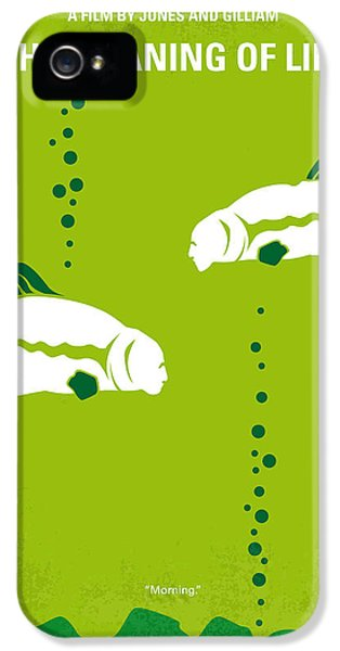 Python iPhone 5 Case - No226 My The Meaning Of Life Minimal Movie Poster by Chungkong Art