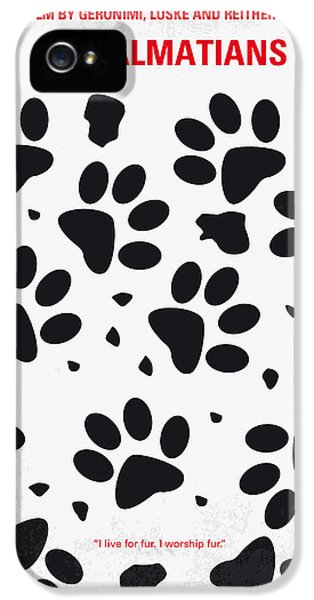 No229 My 101 Dalmatians Minimal Movie Poster IPhone 5 Case by Chungkong Art