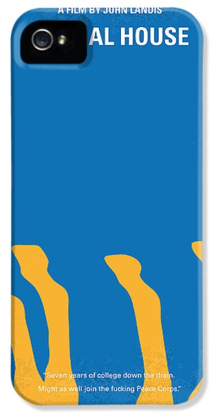 No230 My Animal House Minimal Movie Poster IPhone 5 Case by Chungkong Art