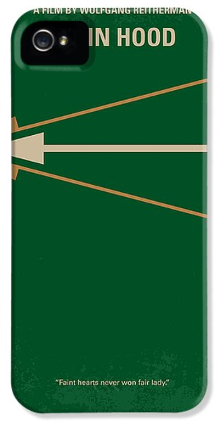 No237 My Robin Hood Minimal Movie Poster IPhone 5 Case