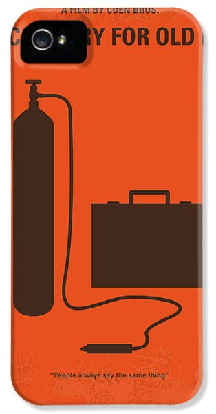 No253 My No Country For Old Men Minimal Movie Poster IPhone 5 Case by Chungkong Art