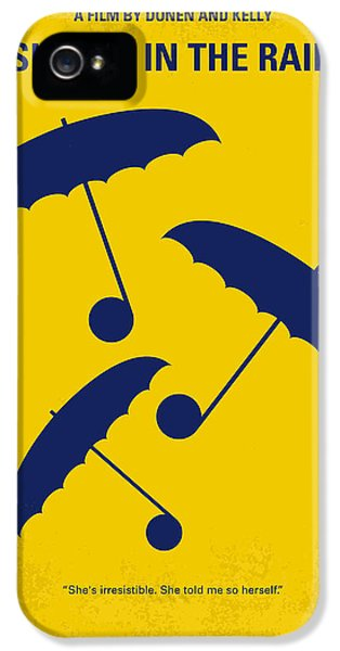 No254 My Singin In The Rain Minimal Movie Poster IPhone 5 Case by Chungkong Art