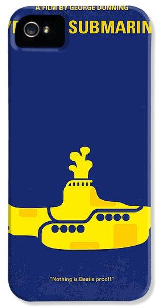 No257 My Yellow Submarine Minimal Movie Poster IPhone 5 Case by Chungkong Art