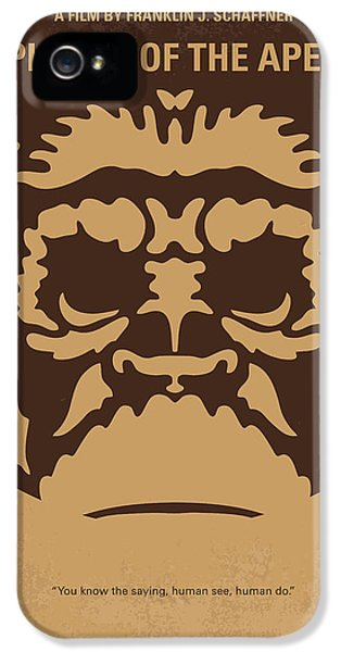 Ape iPhone 5 Case - No270 My Planet Of The Apes Minimal Movie Poster by Chungkong Art
