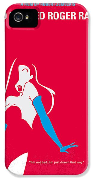 Rabbit iPhone 5 Case - No271 My Roger Rabbit Minimal Movie Poster by Chungkong Art