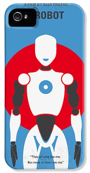 No275 My I Robot Minimal Movie Poster IPhone 5 Case by Chungkong Art