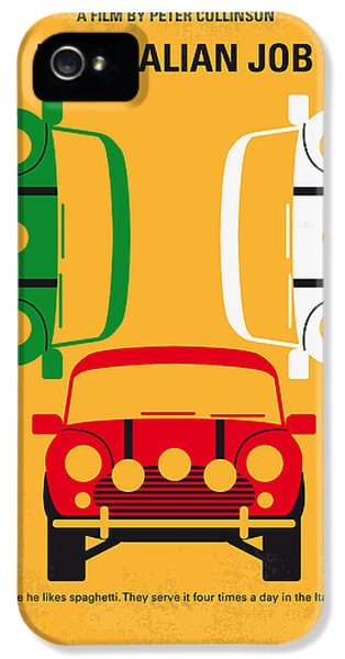 No279 My The Italian Job Minimal Movie Poster IPhone 5 Case by Chungkong Art