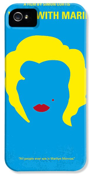 No284 My Week With Marilyn Minimal Movie Poster IPhone 5 Case by Chungkong Art