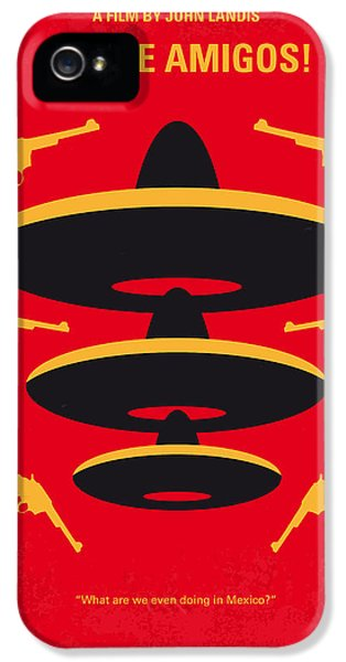No285 My Three Amigos Minimal Movie Poster IPhone 5 Case