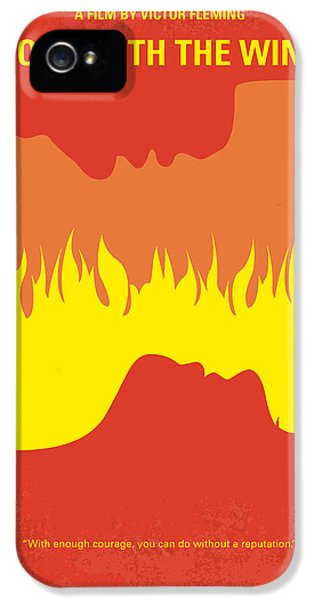 No299 My Gone With The Wind Minimal Movie Poster IPhone 5 Case