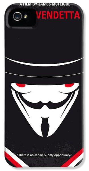 No319 My V For Vendetta Minimal Movie Poster IPhone 5 Case by Chungkong Art