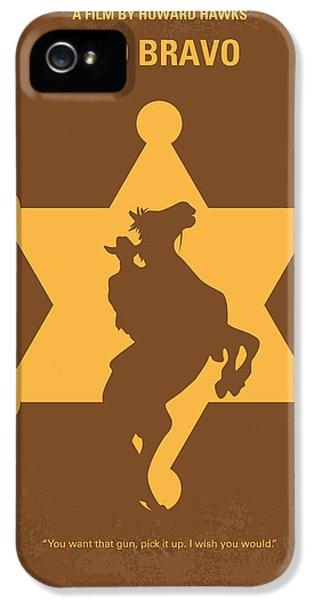 No322 My Rio Bravo Minimal Movie Poster IPhone 5 Case