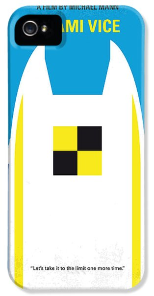 No351 My Miami Vice Minimal Movie Poster IPhone 5 Case by Chungkong Art
