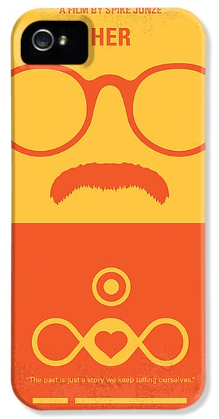 No372 My Her Minimal Movie Poster IPhone 5 Case by Chungkong Art