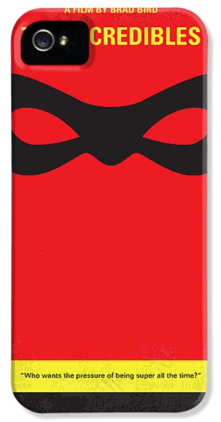 No368 My Incredibles Minimal Movie Poster IPhone 5 Case by Chungkong Art