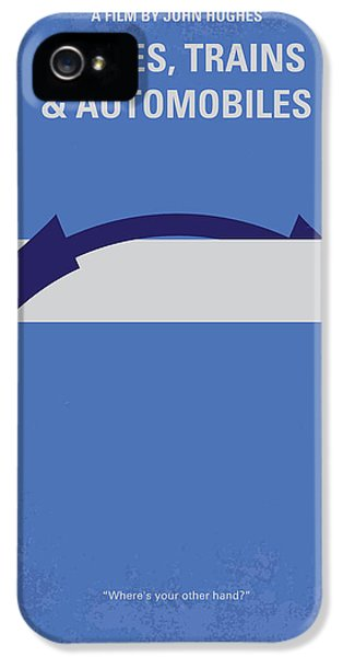 Train iPhone 5 Case - No376 My Planes Trains And Automobiles Minimal Movie Poster by Chungkong Art