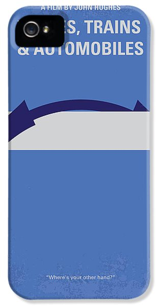 No376 My Planes Trains And Automobiles Minimal Movie Poster IPhone 5 Case by Chungkong Art