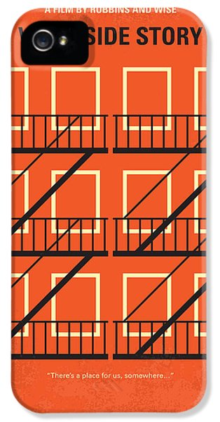 No387 My West Side Story Minimal Movie Poster IPhone 5 Case by Chungkong Art
