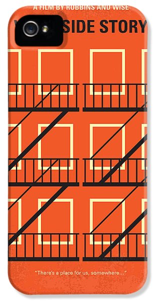 Jet iPhone 5 Case - No387 My West Side Story Minimal Movie Poster by Chungkong Art