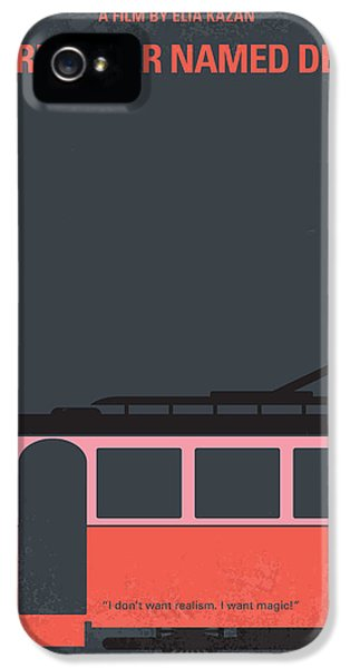 No397 My Street Car Named Desire Minimal Movie Poster IPhone 5 Case by Chungkong Art