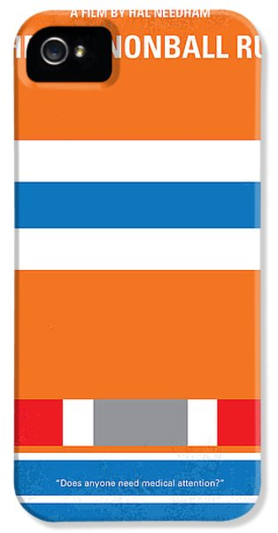 No411 My The Cannonball Run Minimal Movie Poster IPhone 5 Case by Chungkong Art