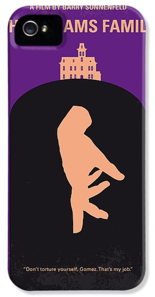 No423 My The Addams Family Minimal Movie Poster IPhone 5 Case