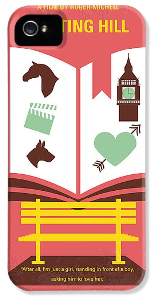 No434 My Notting Hill Minimal Movie Poster IPhone 5 Case by Chungkong Art