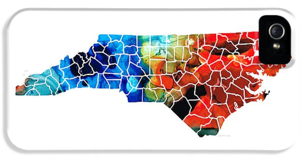 North Carolina - Colorful Wall Map By Sharon Cummings IPhone 5 Case