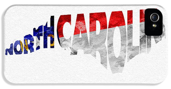 North Carolina Typographic Map Flag IPhone 5 Case