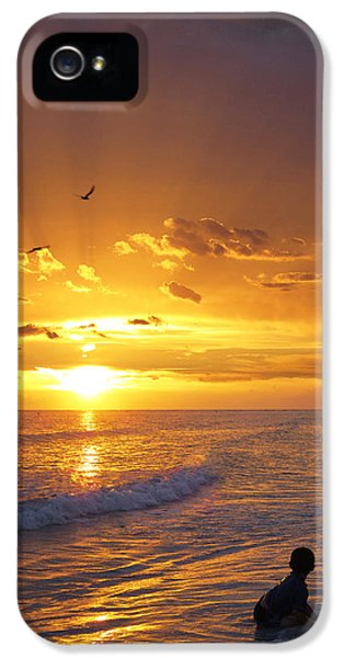 Beach Sunset iPhone 5 Case - Not Yet - Sunset Art By Sharon Cummings by Sharon Cummings