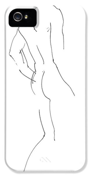 Nudes iPhone 5 Case - Nude Male Drawings 2 by Gordon Punt
