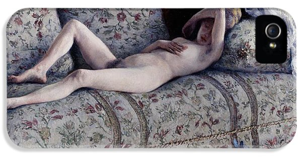 Nude On A Couch IPhone 5 Case by Gustave Caillebotte