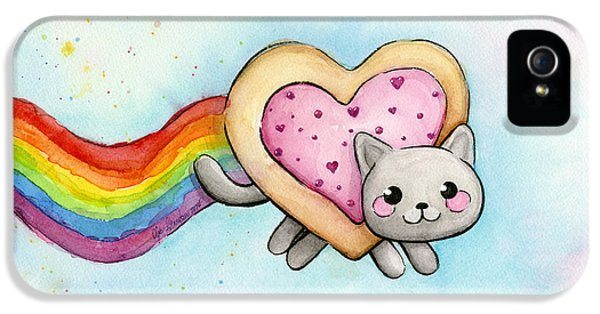 Nyan Cat Valentine Heart IPhone 5 Case