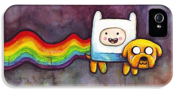 Nyan Time IPhone 5 Case by Olga Shvartsur