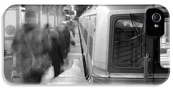 Train iPhone 5 Case - Metro North/ct Dot Commuter Train by Mike McGlothlen